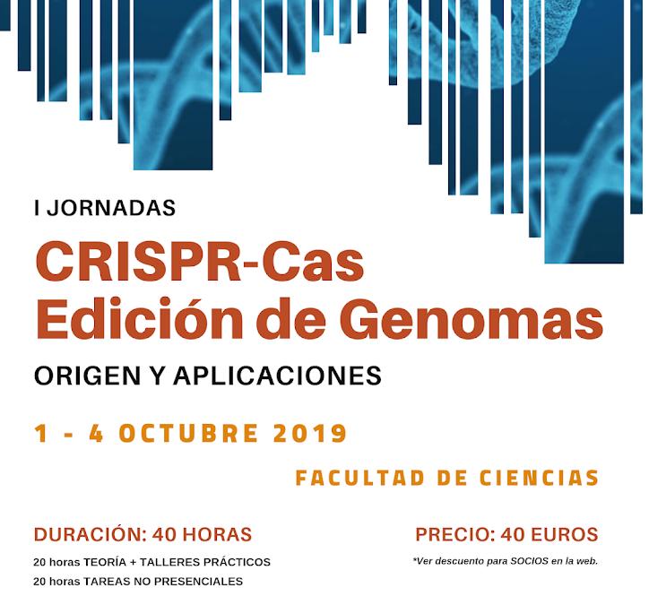 Jornadas sobre CRISPR/Cas. Edición de genomas: origen y aplicaciones